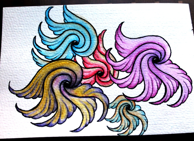 DraWings Zentangle with Watercolours