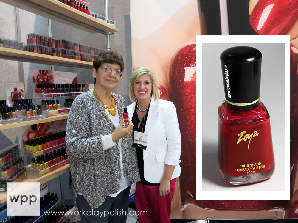 Zoya Reyzis, me, and my original bottle of Zoya ZOOM Carmen