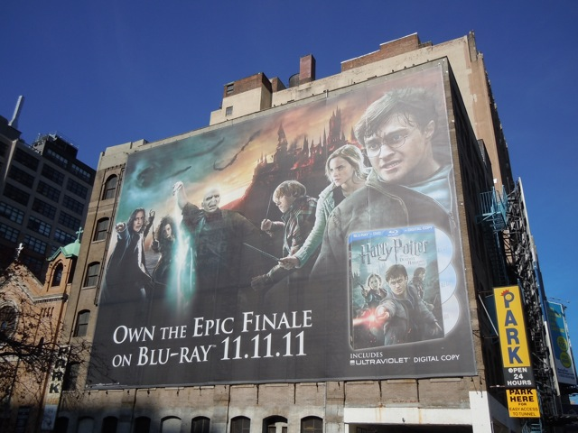 Giant Harry Potter Deathly Hallows Part 2 billboard