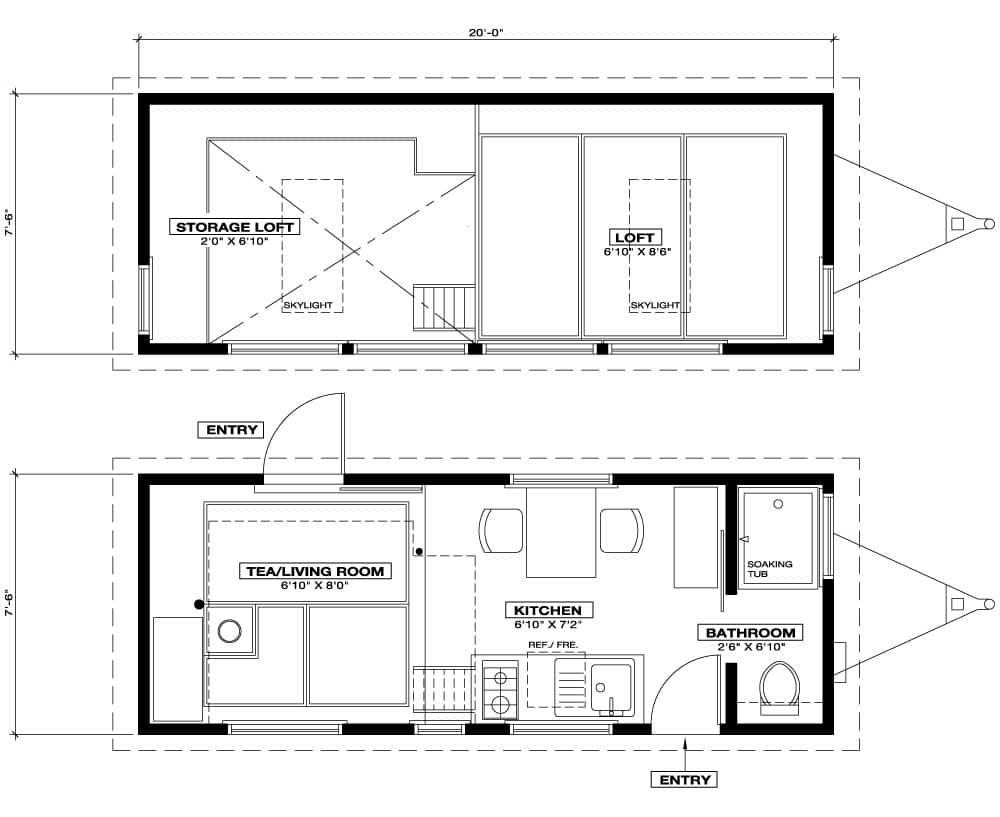 tiny house town tiny tea house cottage 225 sq ft