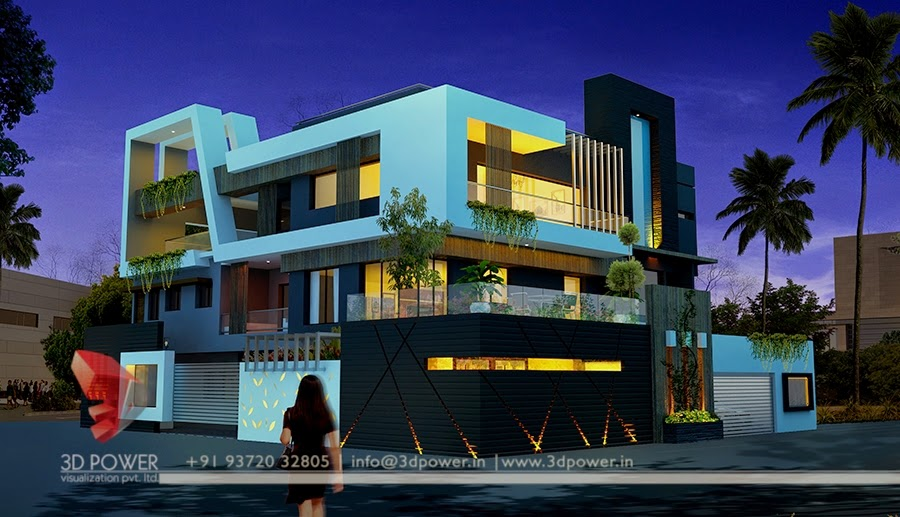 Great & Marvelous  3D Exterior Concept For Residential Bungalow