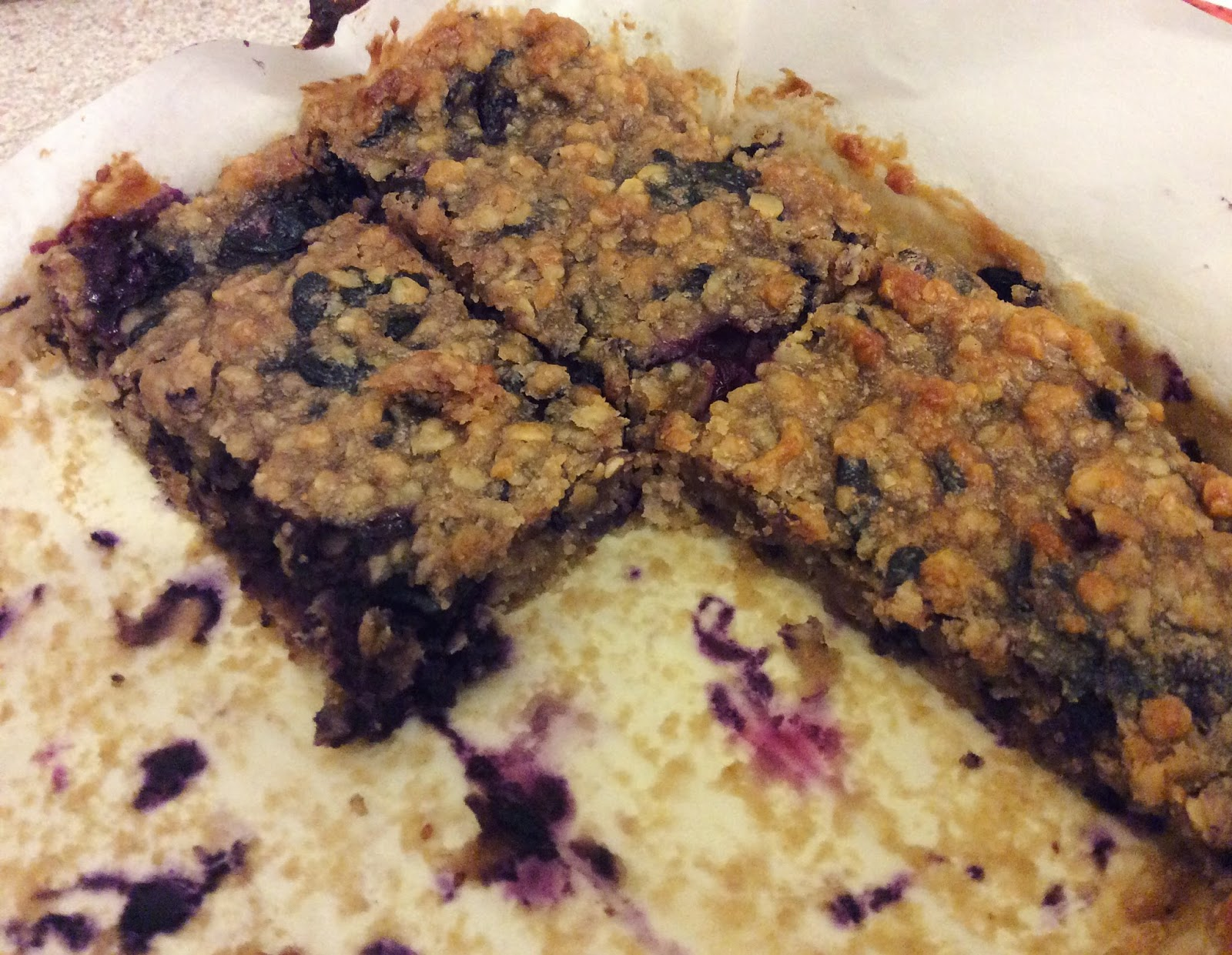blueberry oatie bar homemade