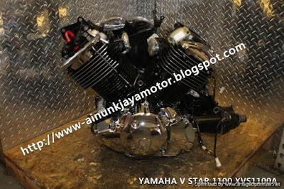 mesin motor yamaha  v star 1100A
