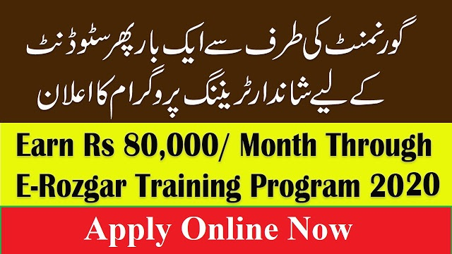 E-Rozgaar Program 2020 - Earn Up to Rs 80000