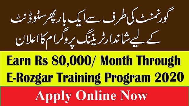 E-Rozgaar Program 2020 - Earn Up to Rs 80000