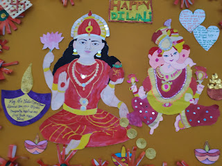 ganesh laxmi bulletin board decorations