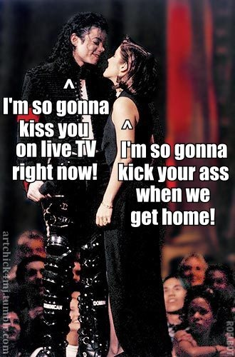 MJ Lisa Marie Kiss Meme