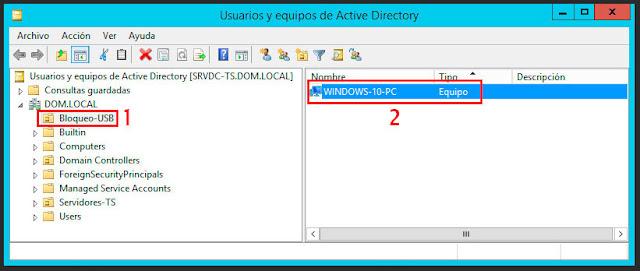 Active Directory: Crear una nueva Unidad Organizativa.
