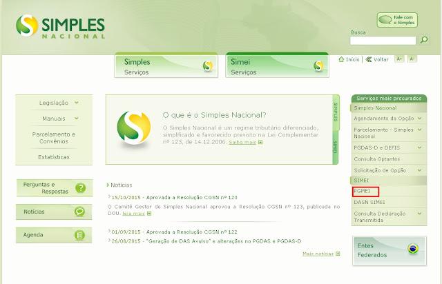 Site do Simples Nacional