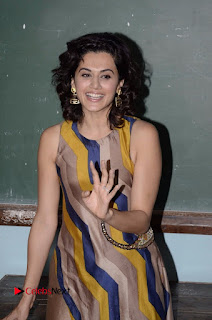Actress Tapsee Panu Stills at Remonetise India Campaign in Chetna College Bandra West  0015.jpg