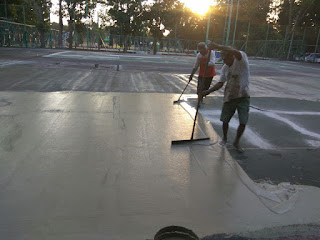 Renovasi lapangan Basket