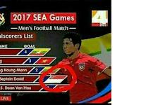 Parah! Daftar Top Skor pun Salah Bendera, Pemain Indonesia Ditulis dengan Bendera Singapura