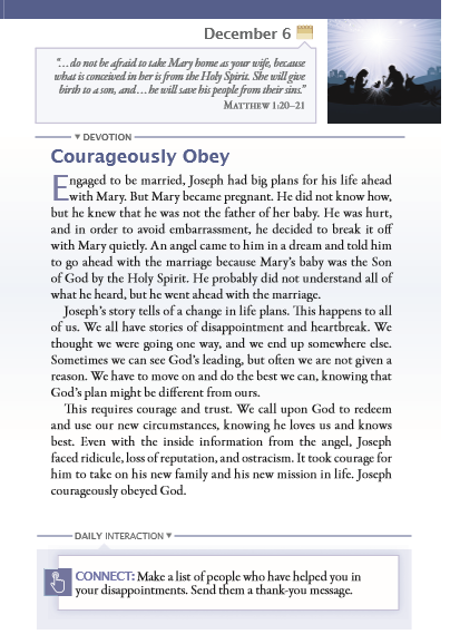 Jesus Daily sample page