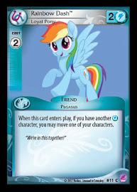 My Little Pony Rainbow Dash, Loyal Pony Seaquestria and Beyond CCG Card