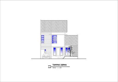 Gambar tampak rumah bertingkat minimalis tipe 92
