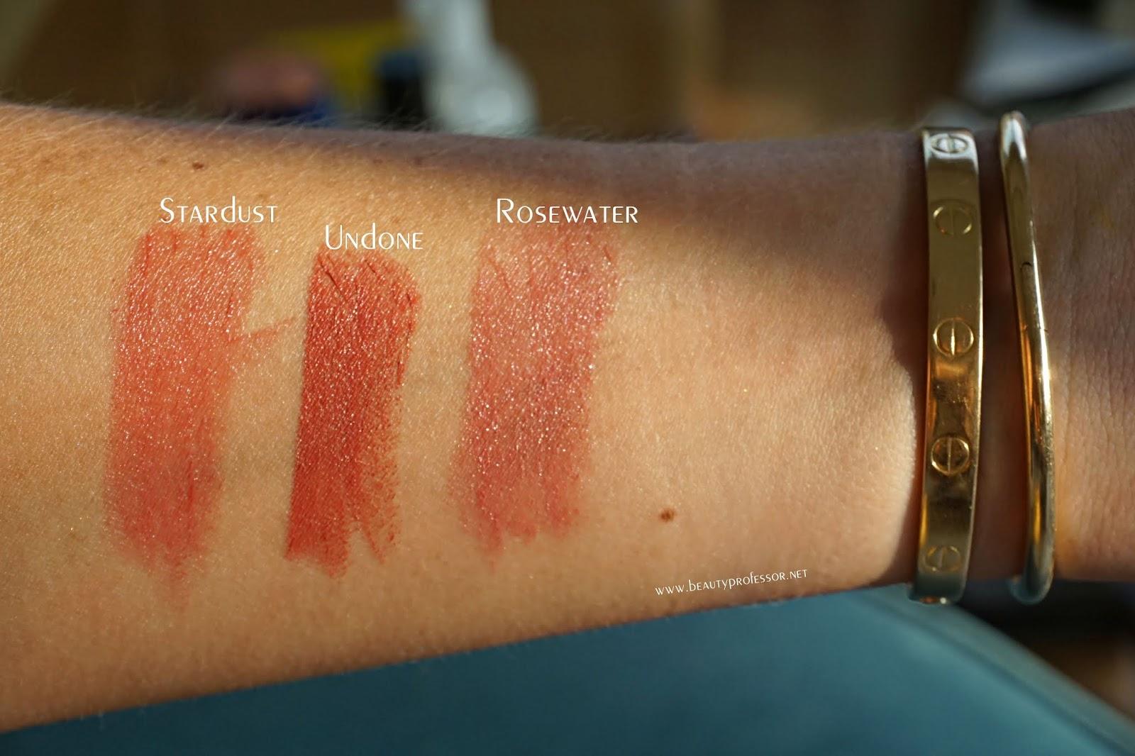 kosas lipstick swatches