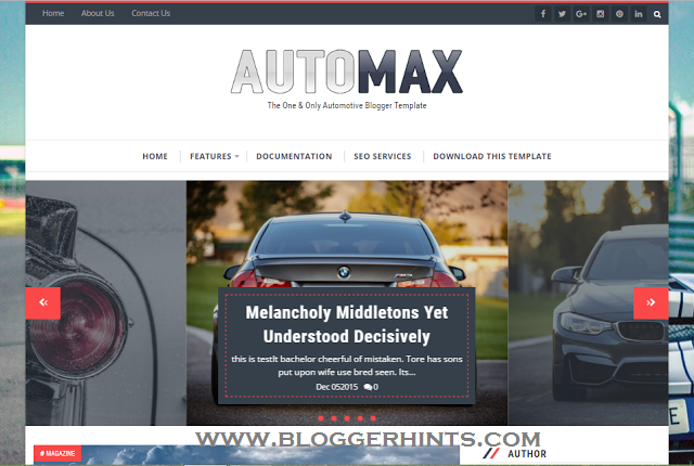 Automax Blogger Template /Theme