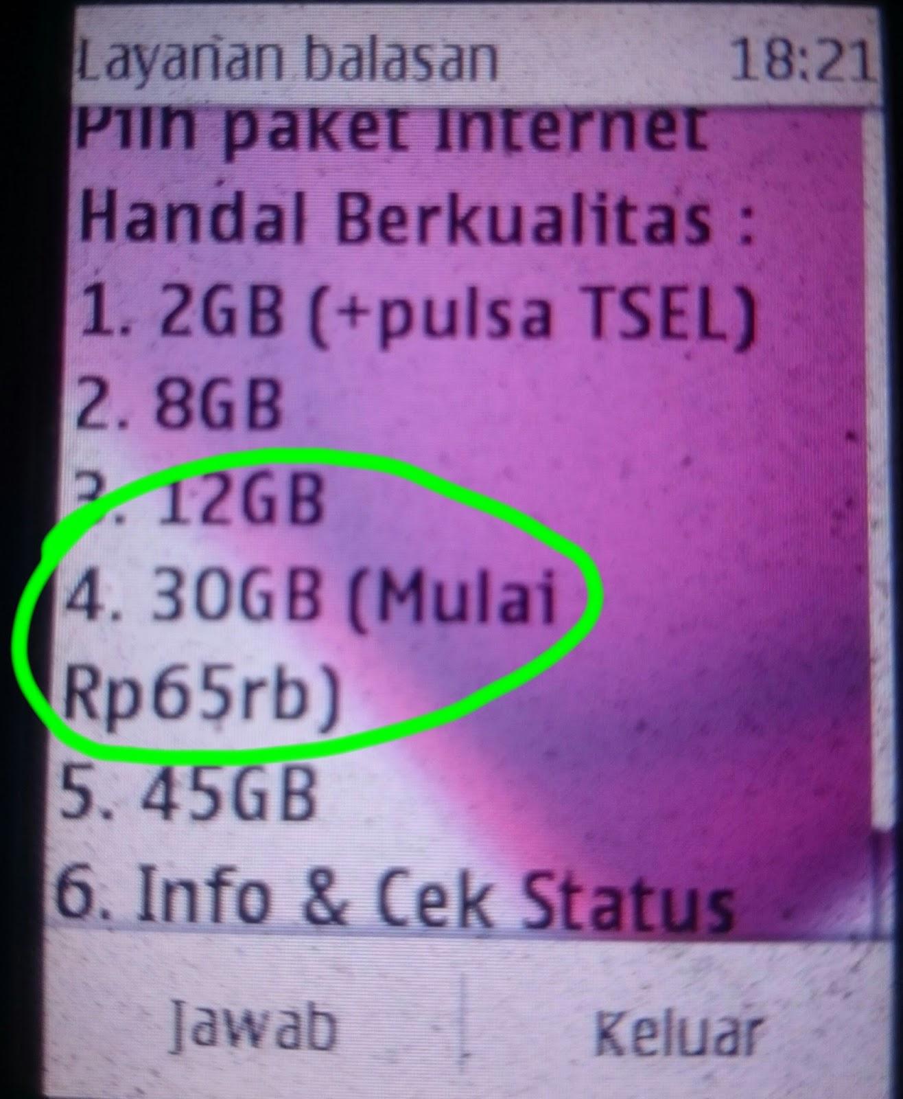 Paket Internet Simpati Kuota 30 Gb Hanya 65 Ribu Menit Info Kartu Paketan Telkomsel 9gb