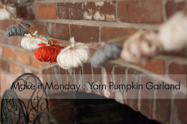 Make it Monday | Yarn Pumpkin Garland | allthingssunshiney.com