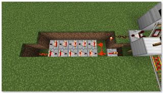 Minecraft 高速トロッコ輸送 アイテム積み込み駅 作り方⑥