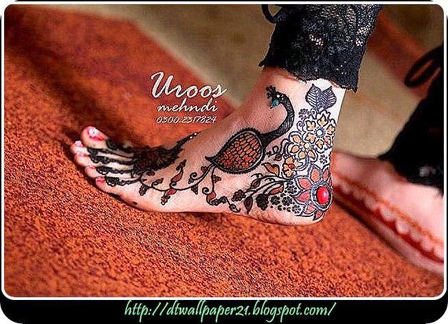 Mehndi Ceremony S Download : Desktop wallpaper background screensavers: girl foot mehndi