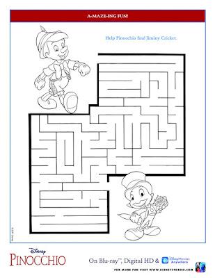 Disney Pinocchio Maze