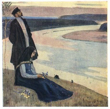 Além do Volga - Pinturas de Mikhail Nesterov - (Simbolismo) Russo
