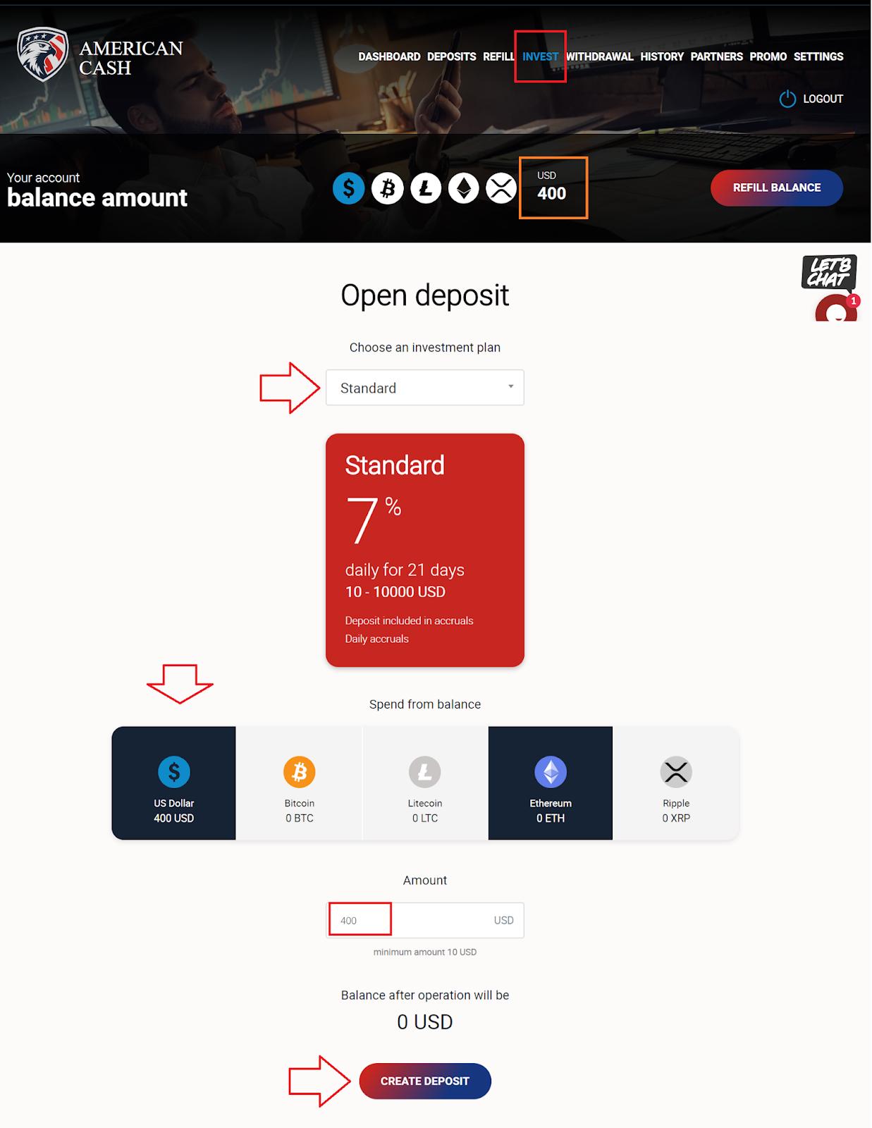 https://american.cash/?upline=hyipola