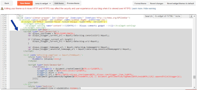 inserting Disqus to Blogger Template
