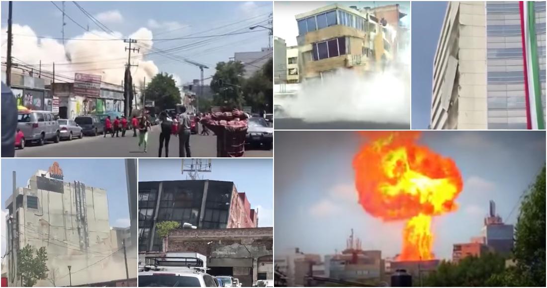 Así fue aquella tarde, hace un año: VIDEOS grabados durante y poco después del sismo de 2017.