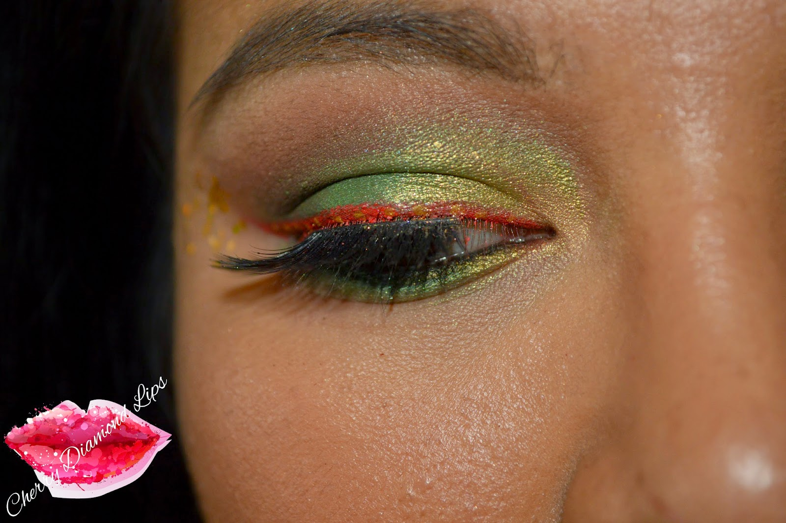 A makeup look using CItron by Nabla Cosmetics