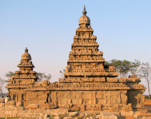 Two towers of Shore temple - UNESCO   World Heritage Site - Mahabalipuram India - Pick, Pack, Go