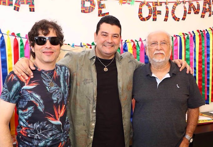 André Rio, Roberto Menescal e Luciano Magno juntos no Clube Alemão nesta sexta-feira (31)