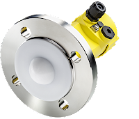 radar level sensor with encapsulated antenna for hygienic or chemical applications