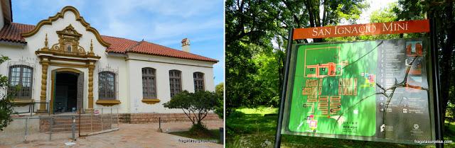 Museu e mapa da Missão Jesuítica de San Ignacio Miní
