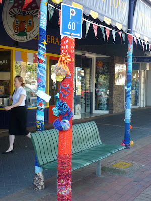 Knitting, yarn bombing, devonport, new zealand