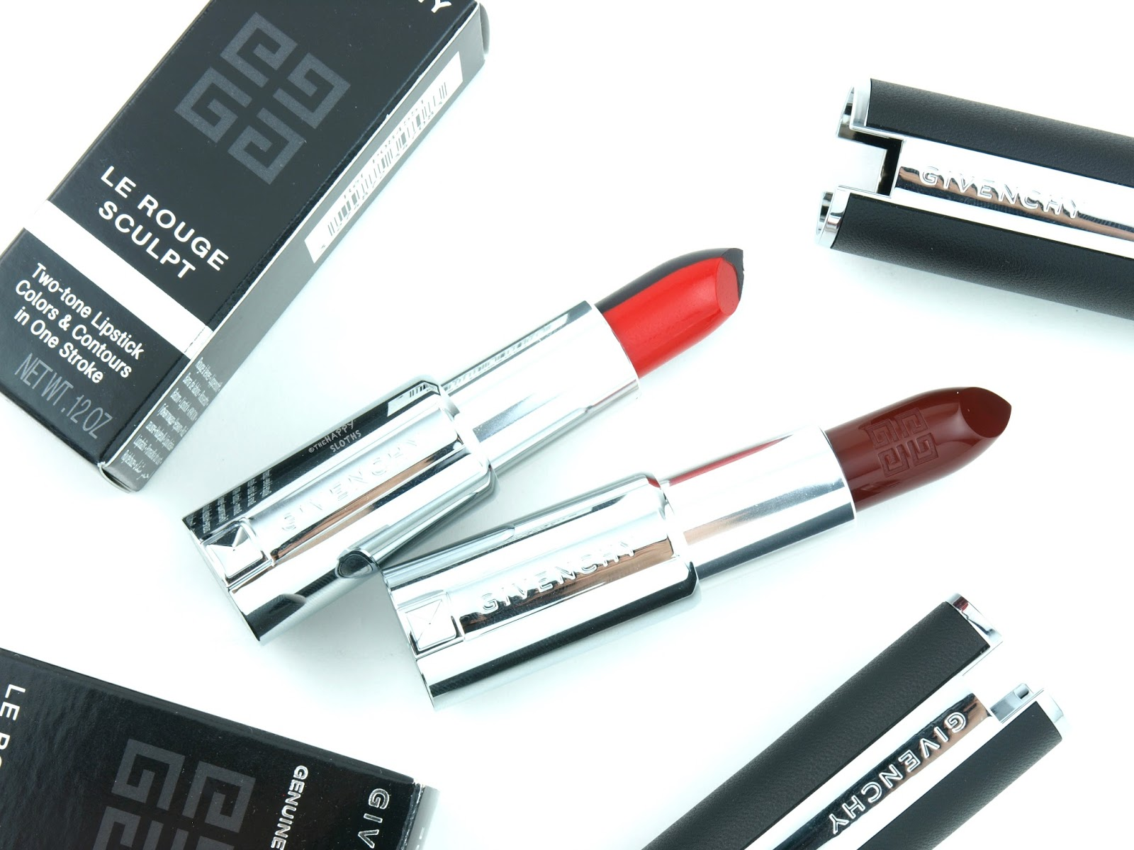 "Givenchy Fall 2017 | Le Rouge Sculpt in ""N°1 Sculpt'in Rouge"" & Le Rouge Lipstick in ""326 Pourpre Edgy"": Review and Swatches"