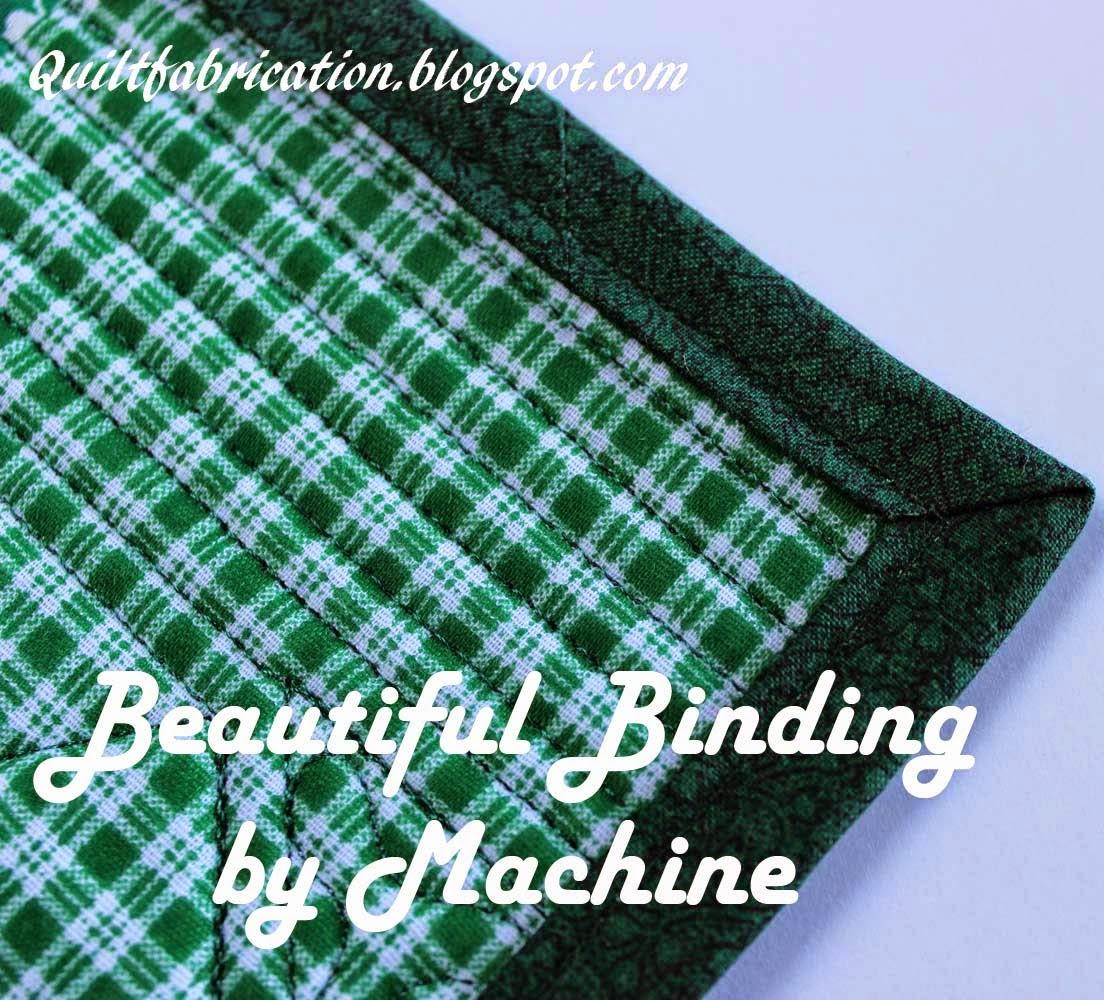 machine binding stitched