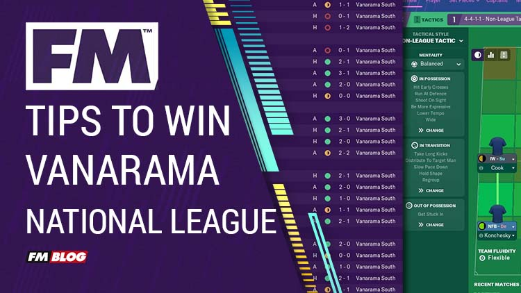 Tips to Win the Vanarama National League Football Manager