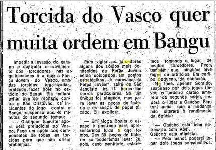 Torcidas do Vasco  FORÇA JOVEM 1977  TORCIDA DO VASCO QUER MUITA ... 5b247e3334bf5