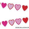 Bunting Banner Hati / Love Mixed Motif