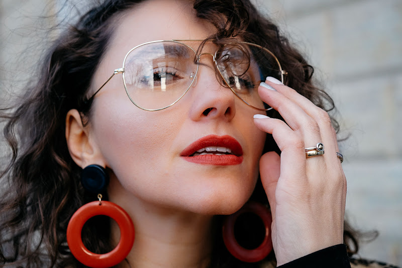 прозрачные очки мода