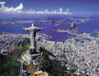 Cristo Redentor e a Baía de Guanabara - Rio de Janeiro - Brasil - Copa do Mundo