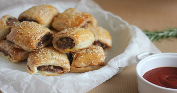 Lamb And Rosemary Sausage Rolls Recipe