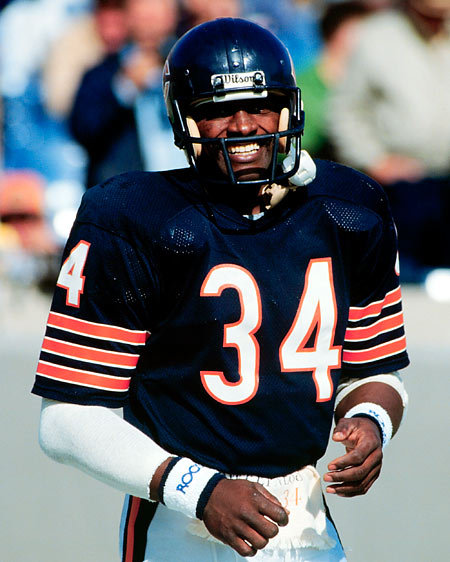 Vaughn's World (Sports Edition): All-Time NFL TeamWalter Payton Jumping Touchdown