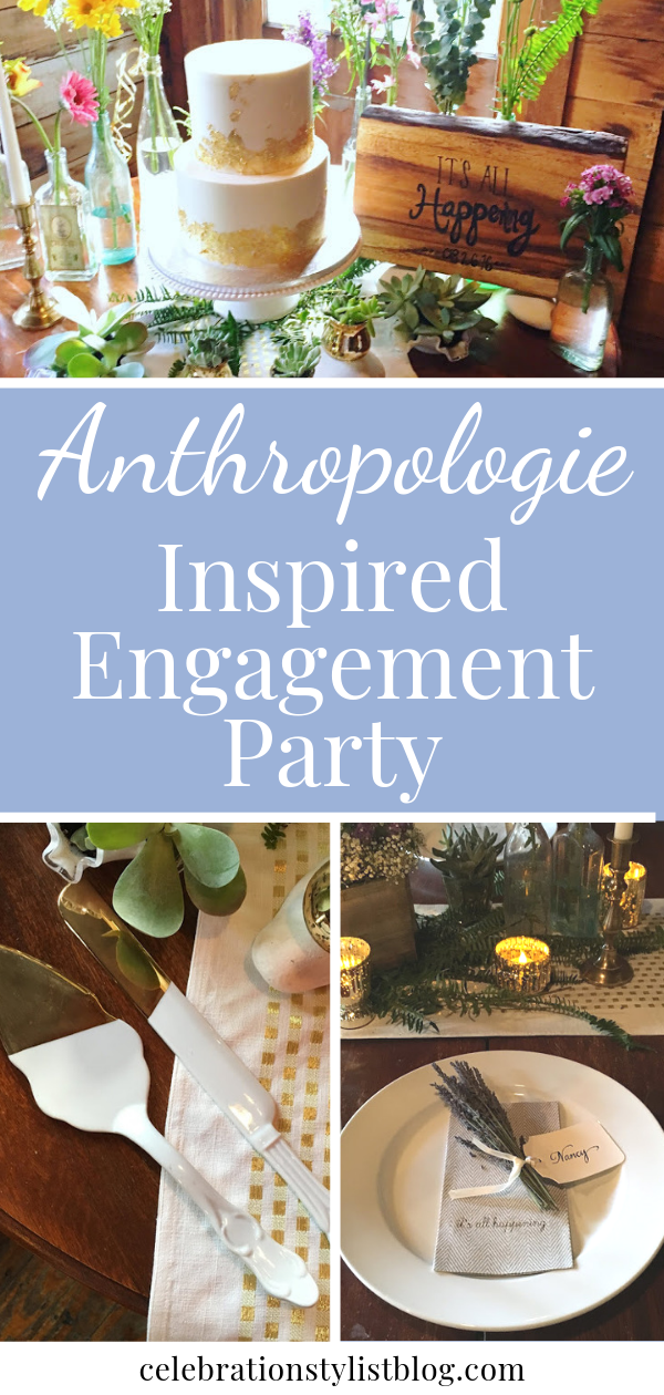 Anthropologie Inspired Engagement Party by The Celebration Stylist