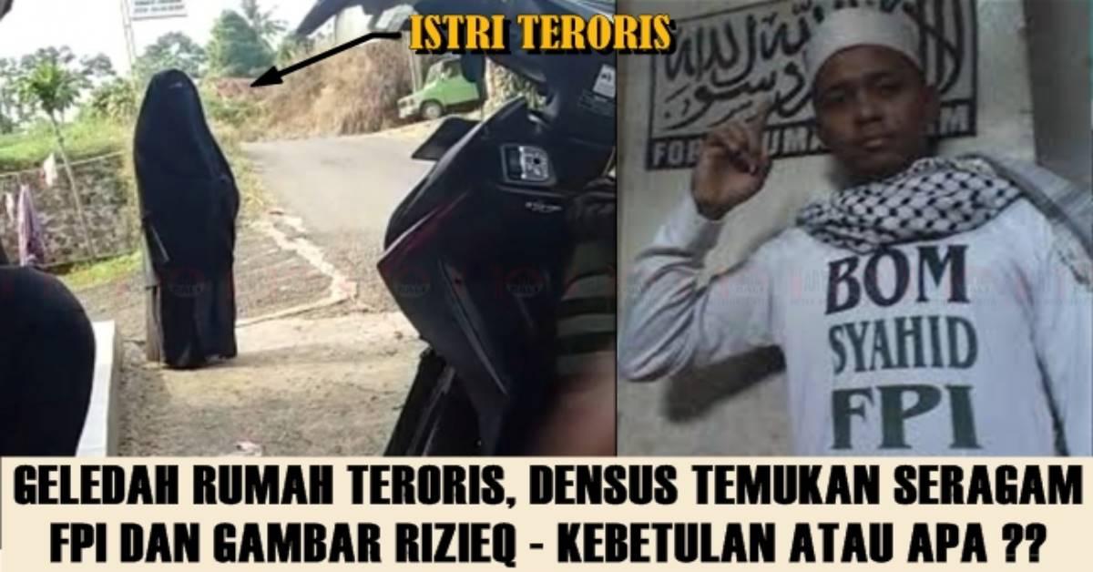 Geledah Rumah Teroris Jad Densus Temukan Seragam Fpi Dan Foto Rizieq