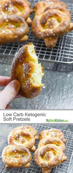 Keto Pretzels Recipe - Homemade Soft Pretzel - Low Carb & Gluten Free