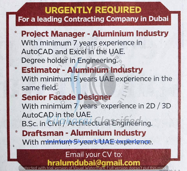 Leading contracting company Jobs for Dubai - American jobs and vicinity