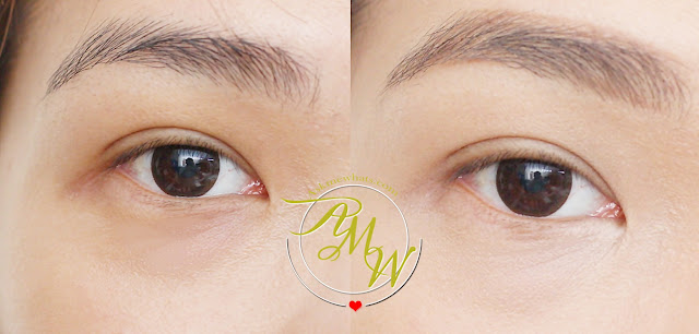 a before and after photo of Benefit Goof Proof Proof Brow Pencil  shade 3